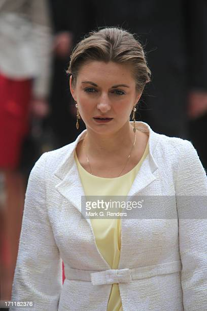 Princess Stephanie of Luxembourg visits EschsurAlzette on June 22 2013 in Luxembourg Luxembourg