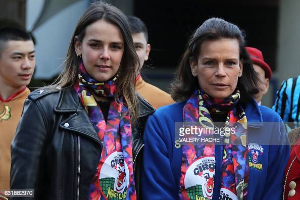 Princess Stephanie of Monaco (R) and and her daughter ...