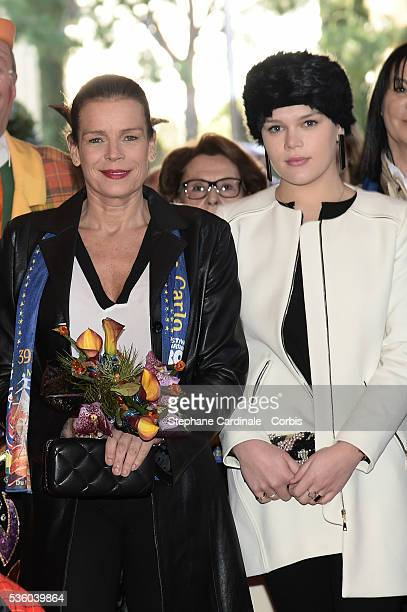 Princess Stephanie of Monaco and Camille Gottlieb attend the 39th International Circus Festival of MonteCarlo on January 18 2015 in Monaco