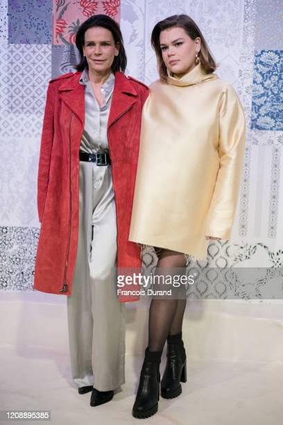Princess Stephanie of Monaco and Camille Gottlieb attend the Alter show as part of the Paris Fashion Week Womenswear Fall/Winter 2020/2021 on...