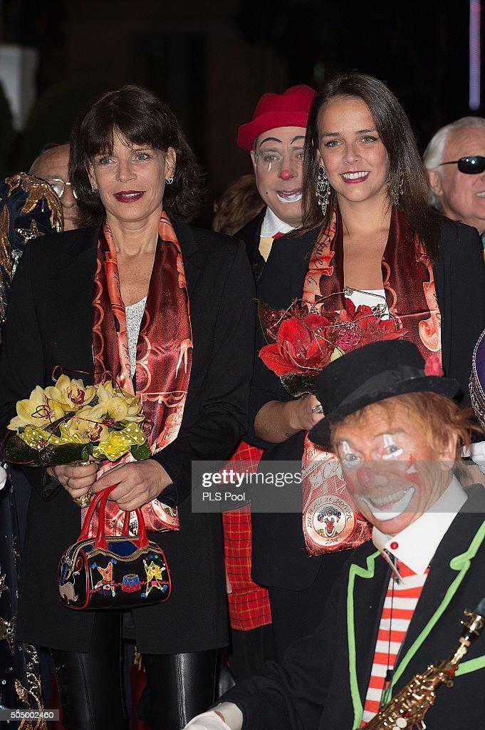Princess Stephanie of Monaco (L) and daughter Pauline Ducruet attend the 40th International Circus Festival on January 14, 2016 in Monaco, Monaco.