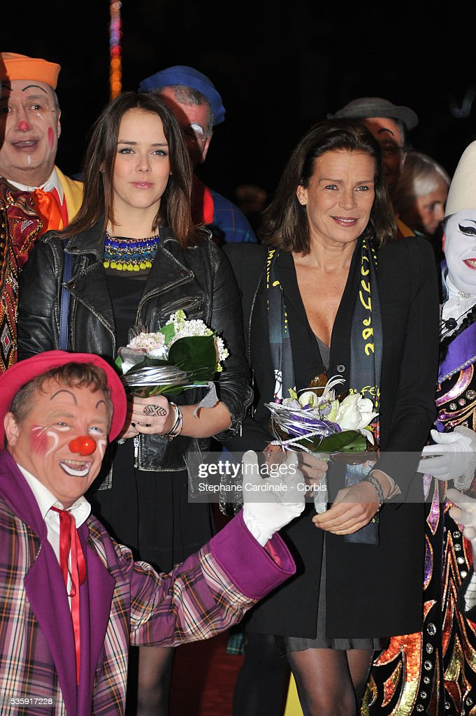 Princess Stephanie of Monaco and daughter Pauline Ducruet (L) attend the 38th International Circus Festival, in Monaco.