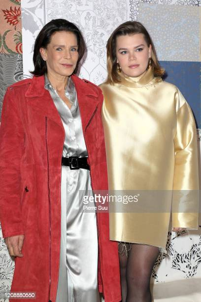 Princess Stephanie of Monaco and her daughter Camille Gottlieb attend the Alter show as part of the Paris Fashion Week Womenswear Fall/Winter...