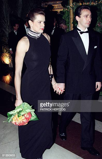 Princess Stephanie of Monaco and her husband Daniel Ducruet arrive 30 March 1996 for the 35th Rose Ball in MonteCarlo AFP PHOTO PATRICK HERTZOG
