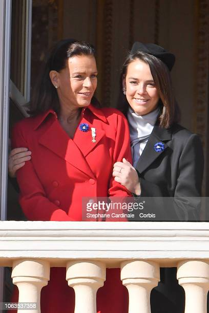 Princess Stephanie of Monaco and Pauline Ducruet attend Monaco National Day Celebrations on November 19, 2018 in Monte-Carlo, Monaco.