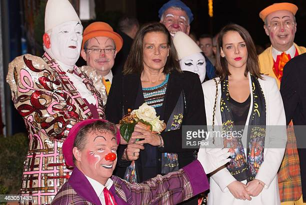 Princess Stephanie of Monaco and Pauline Ducruet attend the 38th International Circus Festival on January 16 2014 in MonteCarlo Monaco