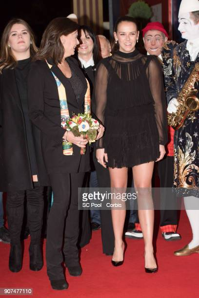 Princess Stephanie of Monaco and Pauline Ducruet attend the 42nd International Circus Festival in Monte Carlo on January 19 2018 in Monaco Monaco