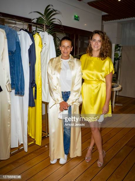 Princess Stephanie of Monaco and Pauline Ducruet attend the opening of the pop-up store of the fashion brand 'ALTER' at Monaco Yatch Club on...
