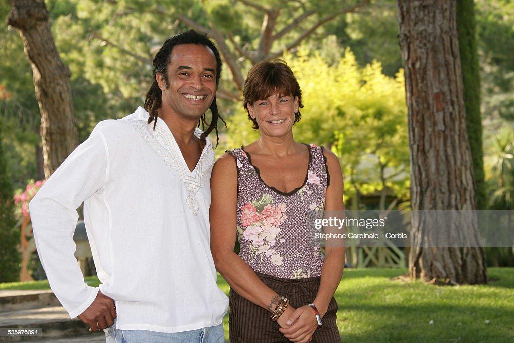HSH Princess Stephanie of Monaco and Yannick Noah.