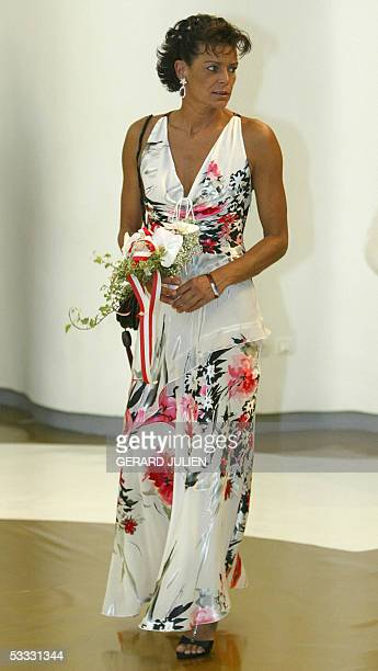 Princess Stephanie of Monaco arrives 05 August 2005 to attend to the annual Red Cross Ball or Bal de la CroixRouge at the MonteCarlo Sporting Club in...