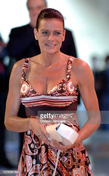 Princess Stephanie of Monaco arrives to attend the 2010 Annual FightAIDS Monaco Gala dinner on July 16 2010 in Monaco Monaco