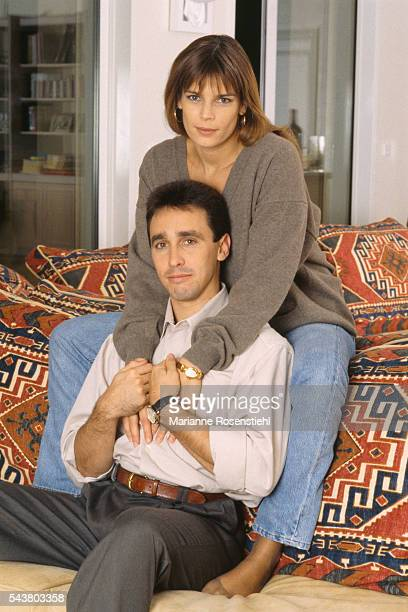 Princess Stephanie of Monaco at home with Daniel Ducruet with whom she married in 1995 and had two children Louis and Pauline