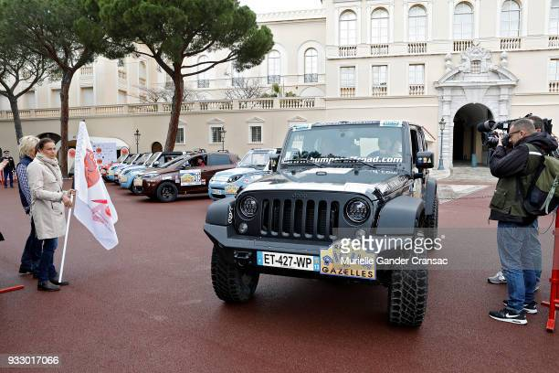 Princess Stephanie of Monaco attends the 28th 'Rallye Aicha Des Gazelles Du Maroc' on March 17 2018 in Monaco Monaco