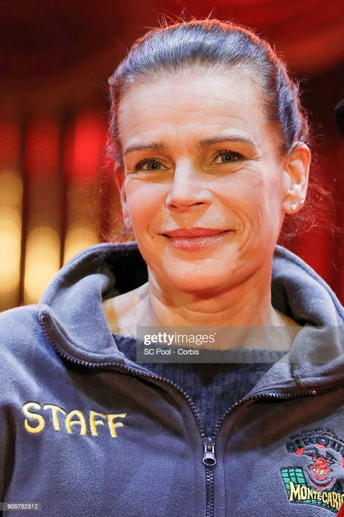 Princess Stephanie of Monaco attends the 42nd International Circus Festival In Monte-Carlo : Photocall on January 16, 2018 in Monaco, Monaco.