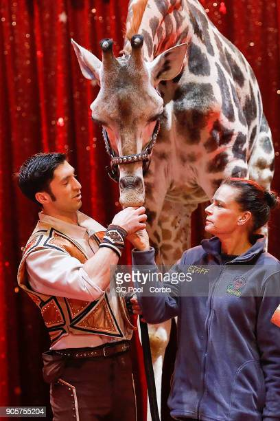 Princess Stephanie of Monaco attends the 42nd International Circus Festival In MonteCarlo Photocall on January 16 2018 in Monaco Monaco