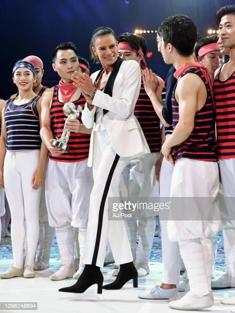Princess Stephanie of Monaco attends the 43rd International Circus Festival of MonteCarlo on January 22 2019 in Monaco Monaco