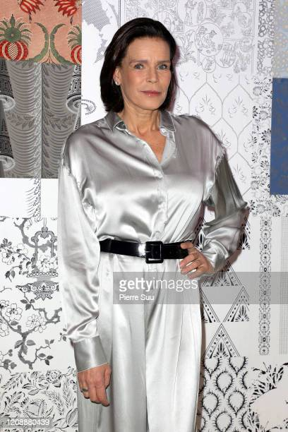 Princess Stephanie of Monaco attends the Alter show as part of the Paris Fashion Week Womenswear Fall/Winter 2020/2021 on February 26 2020 in Paris...