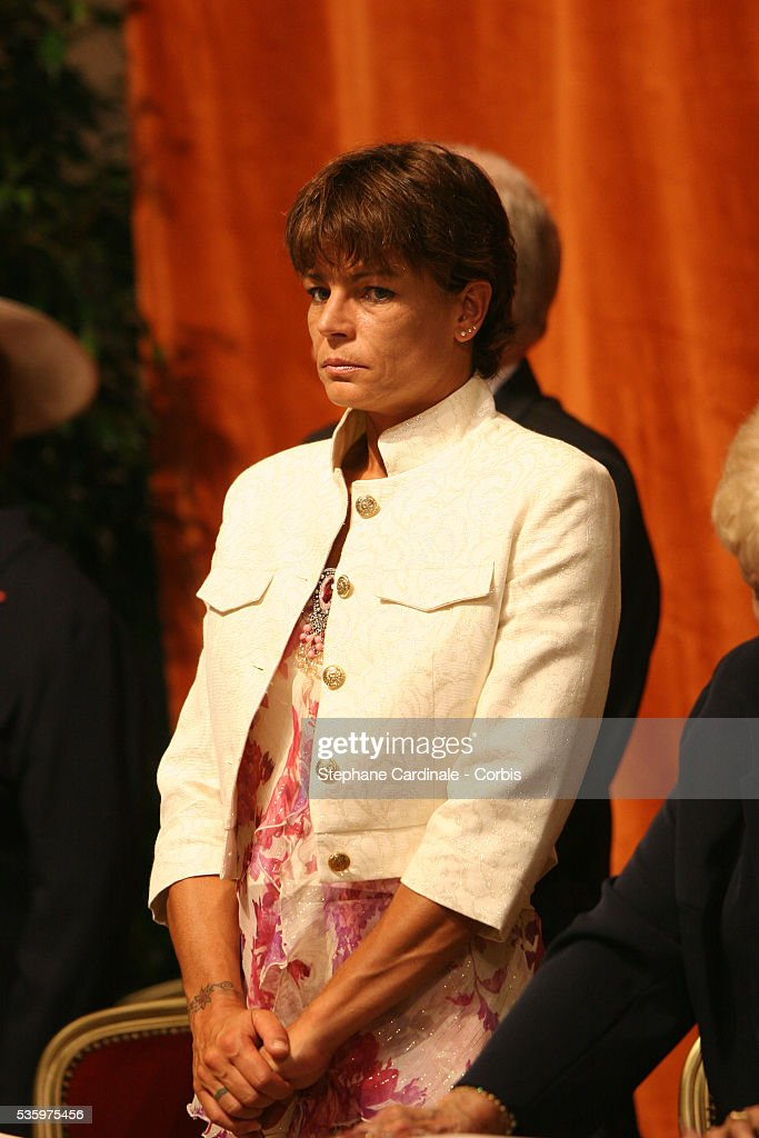 Princess Stephanie of Monaco attends the enthronement mass in Monaco Cathedral. Prince Albert II, 47, took over as ruler of the principality following the death of his father, Prince Rainier in April.