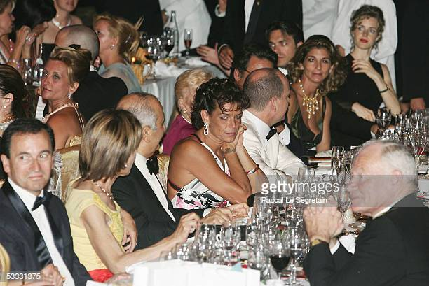 Princess Stephanie of Monaco attends the gala dinner of the 57th Red Cross Ball on August 5 2005 in Monte Carlo Monaco