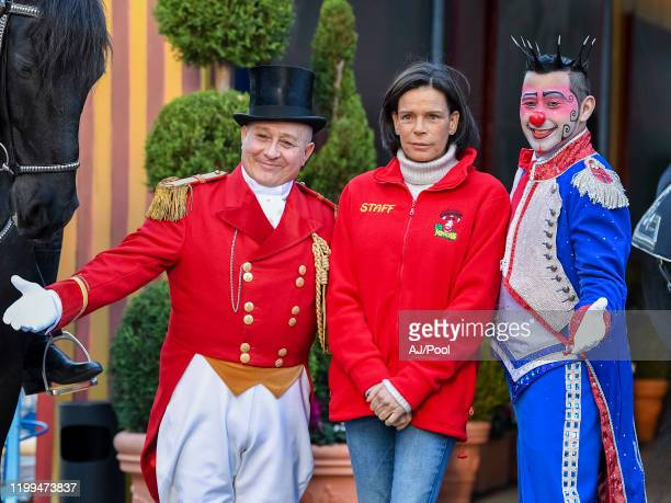 Princess Stephanie of Monaco attends the photocall of the 44th International Circus Festival on January 14, 2020 in Monaco, Monaco.
