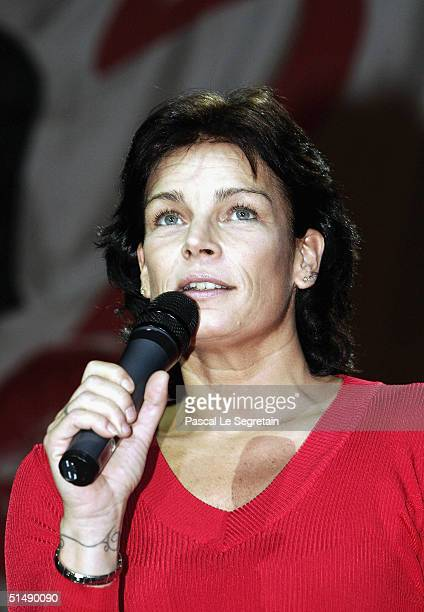 """Princess Stephanie of Monaco attends the second day of the """"Fight Aids Monaco"""" concert on October 17, 2004 in Avignon, France. Princess Stephanie of..."""
