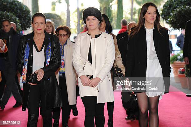 Princess Stephanie of Monaco Camille Gottlieb and Pauline Ducruet attend the 39th International Circus Festival of MonteCarlo on January 18 2015 in...