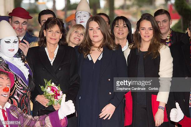 Princess Stephanie of Monaco Camille Gottlieb and Pauline Ducruet attend the 41st MonteCarlo International Circus Festival on January 22 2017 in...