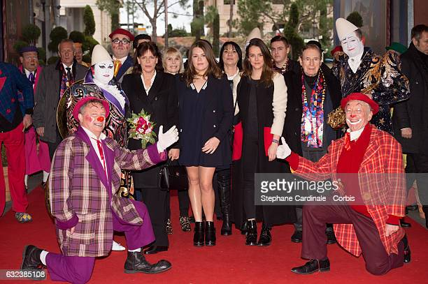 Princess Stephanie of Monaco Camille Gottlieb Pauline Ducruet and Robert Hossein attend the 41st MonteCarlo International Circus Festival on January...