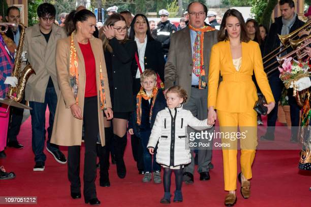 Princess Stephanie of Monaco Camille Gottlieb Prince Jacques of Monaco Prince Albert II of Monaco Princess Gabriella of Monaco and Pauline Ducruet...