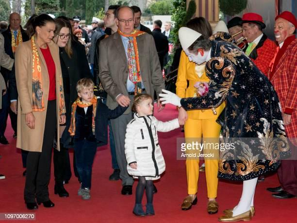 Princess Stephanie of Monaco Camille Gottlieb Prince Jacques Prince Albert II of MonacoPrincess Gabriella and Pauline Ducruet attend the 43rd...