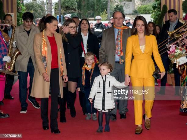 Princess Stephanie of Monaco Camille Gottlieb Prince Jacques Princess Gabriella Prince Albert II of Monaco and Pauline Ducruet attend the 43rd...