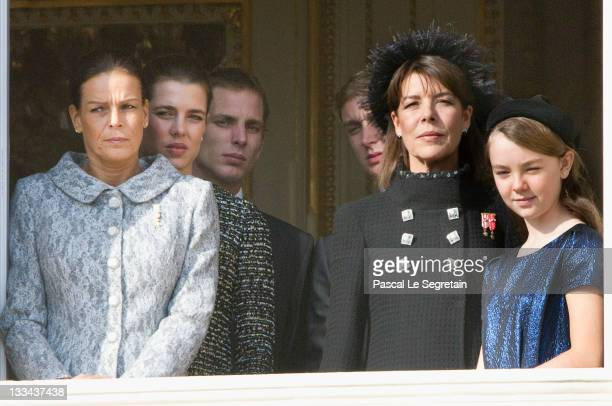 Princess Stephanie of Monaco Charlotte Casiraghi Andrea Casiraghi Pierre Casiraghi Princess Caroline of Hanover and Princess Alexandra of Hanover...