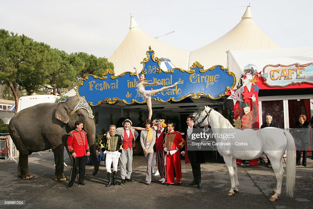 HSH Princess Stephanie of Monaco during the 30th Circus Festival of Monte Carlo.