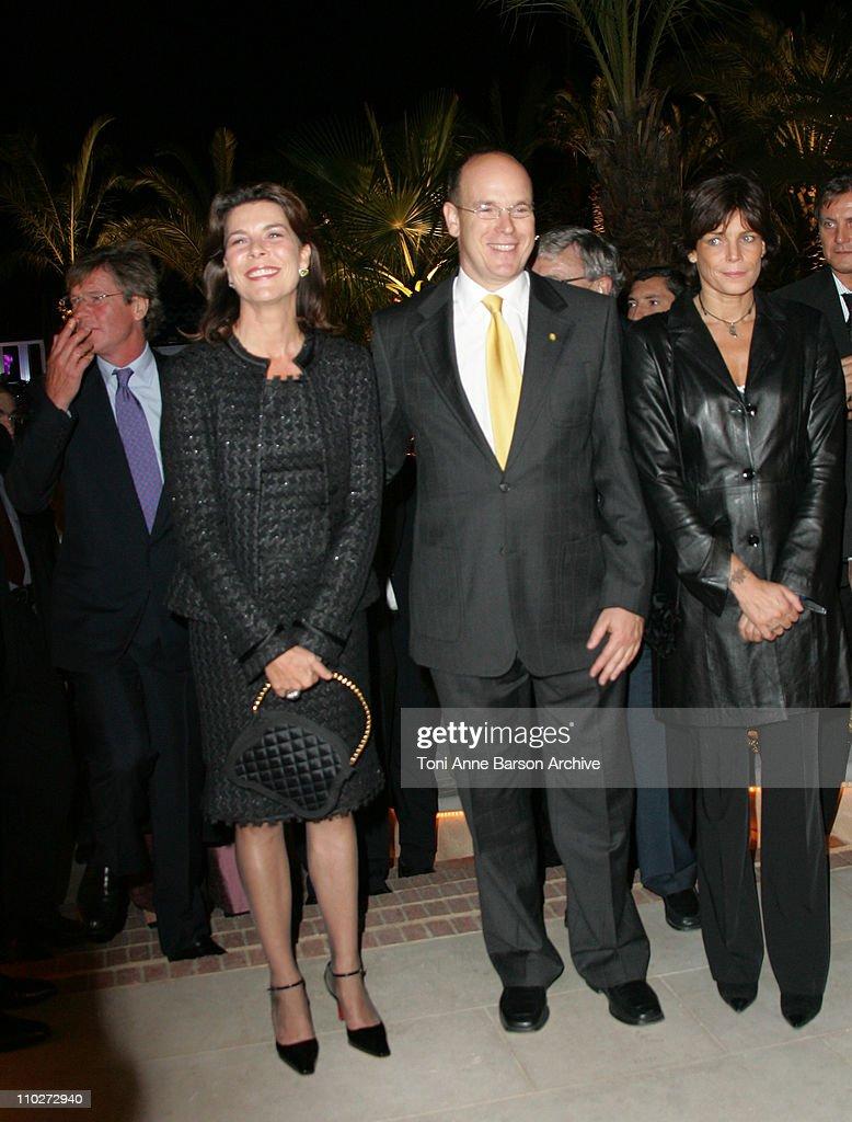 Princess Stephanie of Monaco, HSH Prince Albert II and Princess Caroline of Hanover