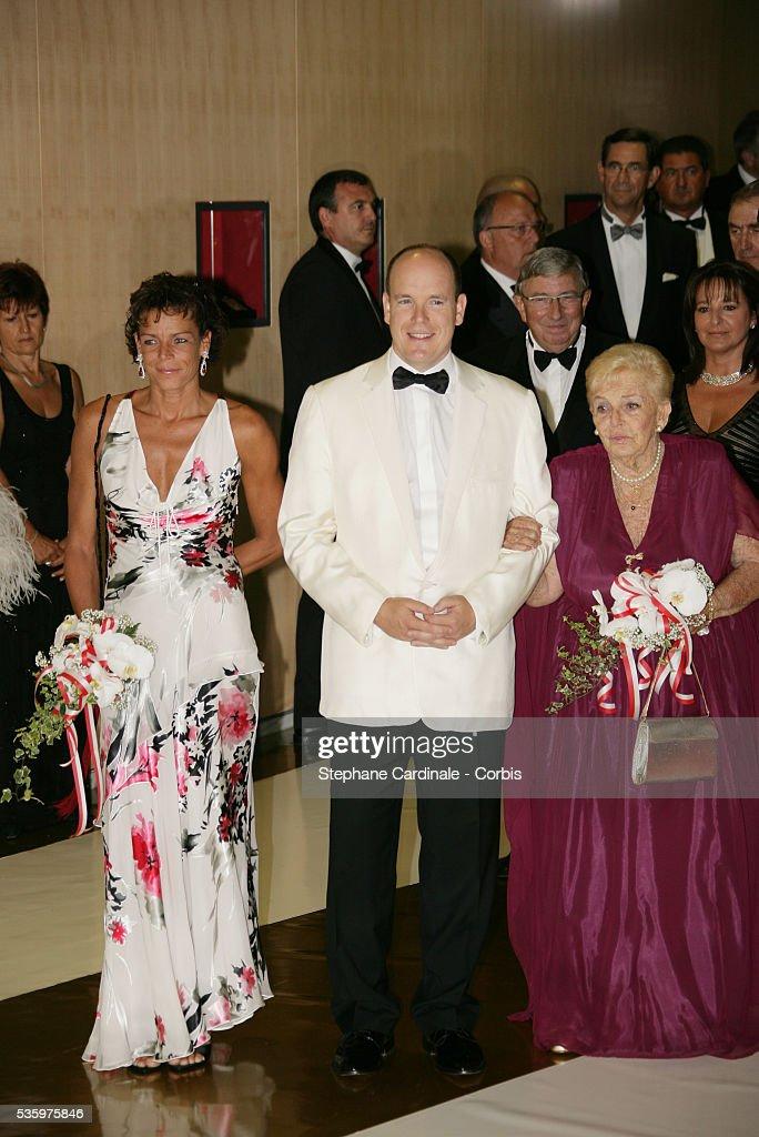 HSH Princess Stephanie of Monaco, HSH Prince Albert II of Monaco and HSH Princess Antoinette of Monaco.