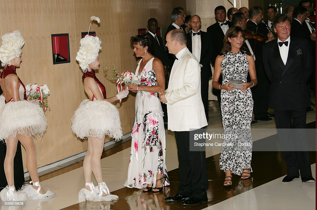 HSH Princess Stephanie of Monaco, HSH Prince Albert II of Monaco, HRH Princess Caroline of Hanover and HRH Ernst August of Hanover.