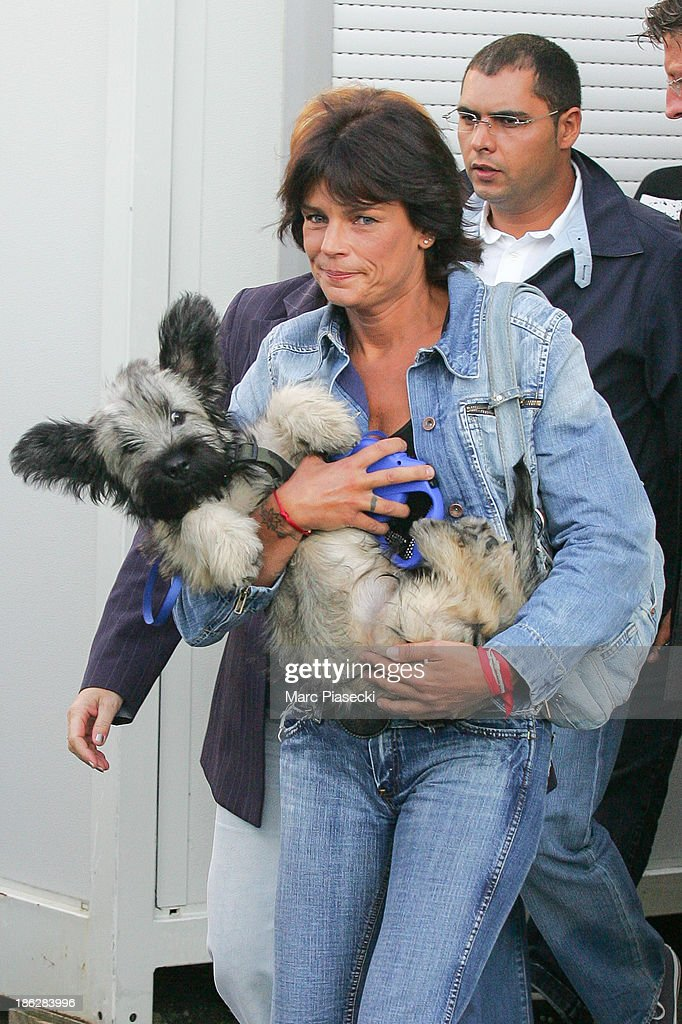 Princess Stephanie of Monaco leaves the 'Hit Machine' set on August 30, 2006 in Paris, France.