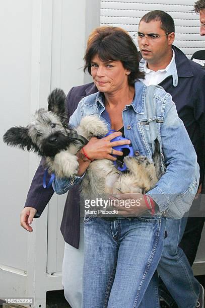 Princess Stephanie of Monaco leaves the 'Hit Machine' set on August 30 2006 in Paris France