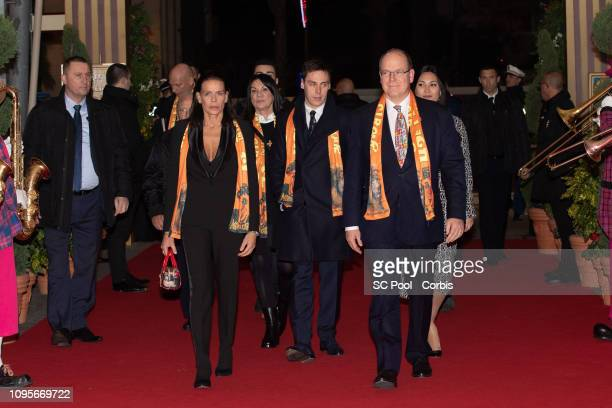 Princess Stephanie of Monaco Louis Ducruet Prince Albert II of Monaco and Marie attend the opening ceremony of the 43rd International Circus Festival...