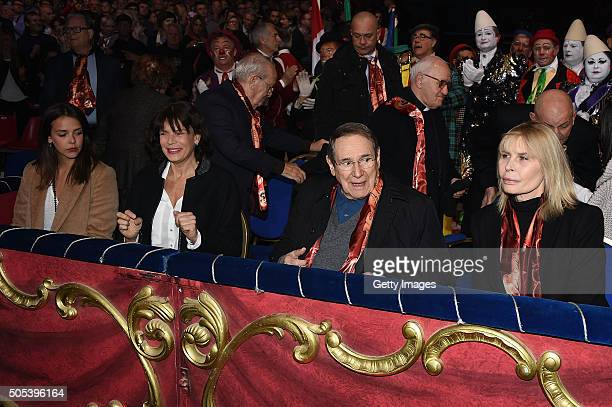 Princess Stephanie of Monaco Pauline Ducruet and Robert Hossein with wife Candice Patou attend the 40th International Circus Festival on January 17...