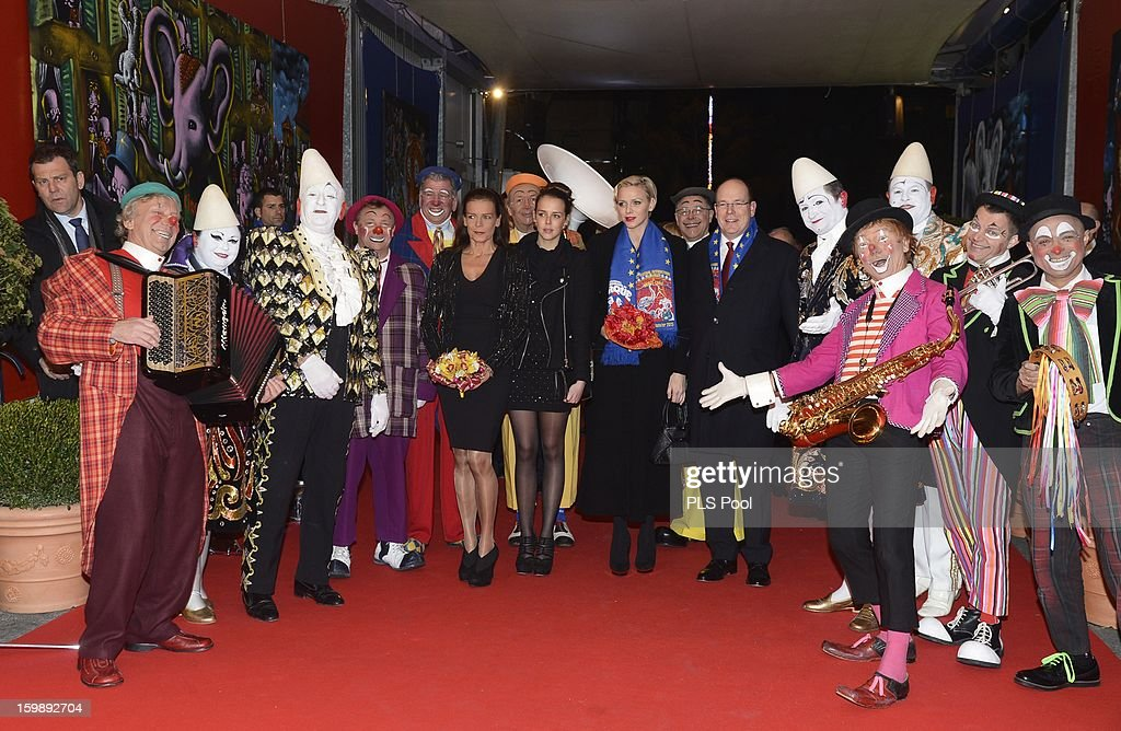 Princess Stephanie of Monaco, Pauline Ducruet, Princess Charlene of Monaco and Prince Albert II of Monaco attend the closing ceremony of the Monte-Carlo 37th International Circus Festival on January 22, 2013 in Monte-Carlo, Monaco.