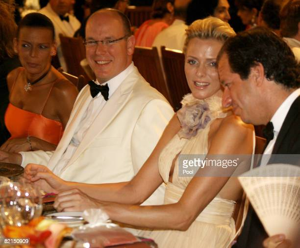 Princess Stephanie of Monaco Prince Albert II of Monaco Charlene Wittstock and James Coleman attend the 60th Monte Carlo Red Cross Ball Dinner on...
