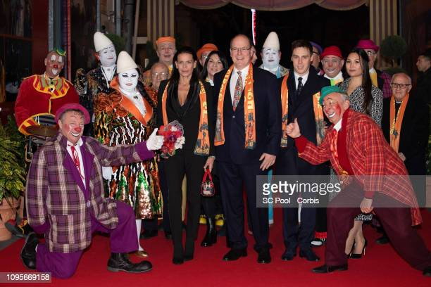 Princess Stephanie of Monaco Prince Albert II of Monaco Louis Ducruet and his companion Marie attend the opening ceremony the 43rd International...