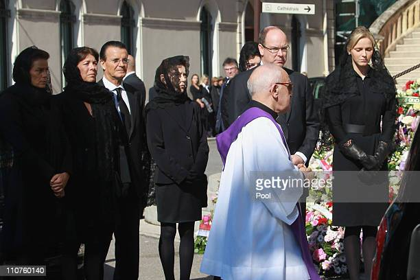 Princess Stephanie of Monaco, Princess Caroline of Hanover, Christian de Massy, Elisabeth-Anne de Massy, Prince Albert II of Monaco and Charlene...