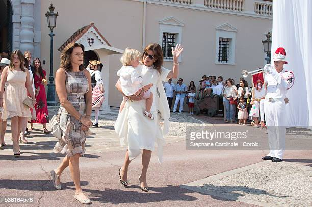 Princess Stephanie of Monaco Princess Caroline of Hanover with her Grandson Sasha Casiraghi attend the First Day of the 10th Anniversary on the...
