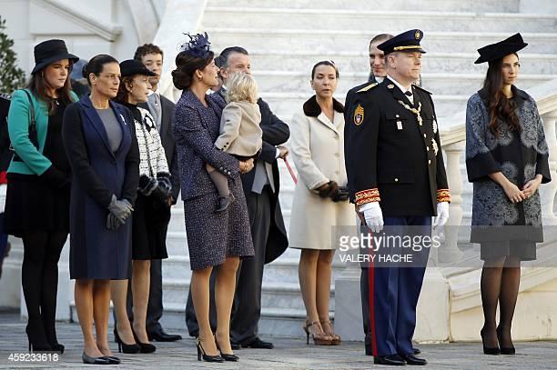 Princess Stephanie of Monaco Princess Caroline of Hanover with Sacha Casiraghi Andrea Casiraghi Prince Albert II of Monaco and Tatiana Santo Domingo...
