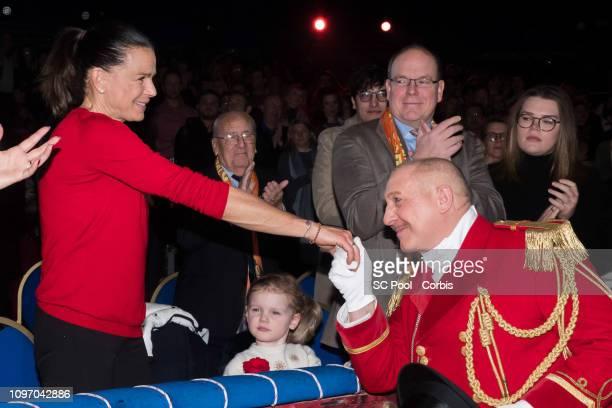 Princess Stephanie of Monaco Princess Gabriella of Monaco and Prince Albert II of Monaco attend the 43rd International Circus Festival of MonteCarlo...