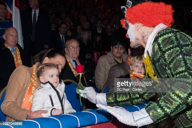 Princess Stephanie of Monaco Princess Gabriella of Monaco and Prince Jacques of Monaco attend the 43rd International Circus Festival of MonteCarlo on...