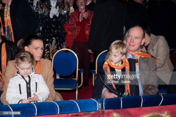 Princess Stephanie of Monaco Princess Gabriella of Monaco Prince Jacques of Monaco and Prince Albert II of Monacoattend the 43rd International Circus...