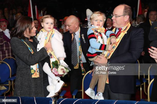 Princess Stephanie of Monaco Princess Gabriella of Monaco Prince Jacques of Monaco and Prince Albert II of Monaco attend the 42nd International...